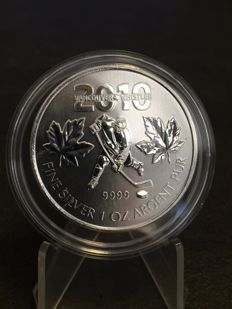 Canada - 5 CAD - maple leaf 10 - Vancouver Whistler Olympics 2010 - 999 silver