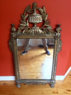 A gilded Louis XVI mirror - France - last quarter 18th century