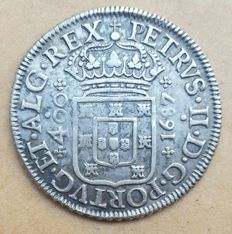 Portugal – Cruzado (400 Réis) – 1687 – D. Pedro II – Rare – Superior Condition