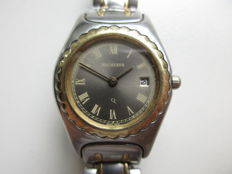 Bucherer Swiss – bi-coloure women's quality wristwatch – 1980s