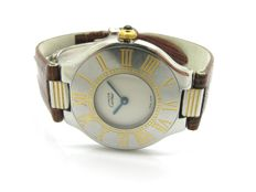 CARTIER women's watch – Must 21 with shaped case in steel and 18 kt yellow gold – made in the '90s – in very good condition