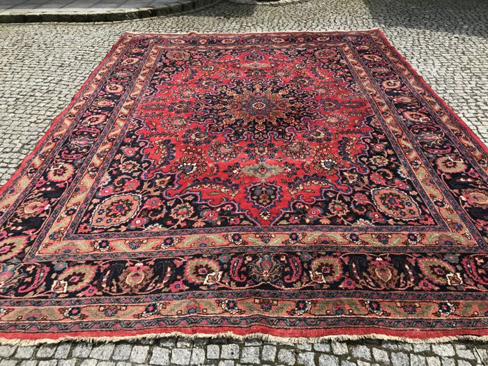 XXL ANTIQUE  Persian Mashad Rug-410x305cm -hand knotted