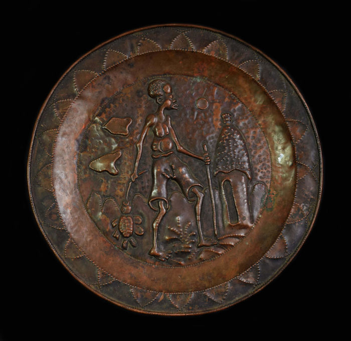 Vintage decorative copper plate with Folk motif  sc 1 st  auctions - Catawiki & Vintage decorative copper plate with Folk motif - Catawiki