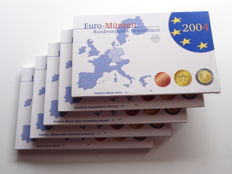Germany - Euro Coin PROOF-Sets 2004 A, D, F, G, J
