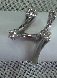 14 kt white gold ring with diamond approx 0.40 ct, ring size: 18