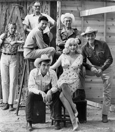 Elliot Erwitt (1928-)/United Artists - Marilyn Monroe and others - 'The Misfits' - 1960