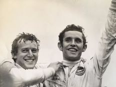 Guy le Page - Jacky Ickx winner of the 24 hours of le Mans - 1969