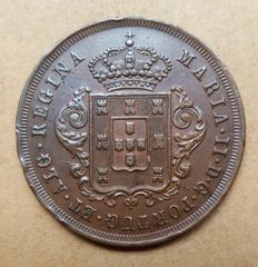 Madeira/Portugal – X Réis 1852 – D. Maria II – Superior Condition