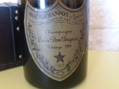 1983 Dom Perignon Vintage Champagne - 1 bottle (75cl) with wooden box