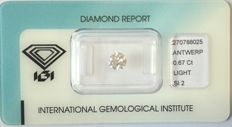 Natural Fancy Pink Diamond 0.67 ct  with IGI cert ***No minimum price***