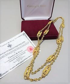 Camrose & Kross – Jackie Kennedy – Paperclip necklace with Box & Certificate of Authenticity