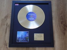 "Oasis "" Standing On The Shoulders Of Giants  "" LP gold disc."