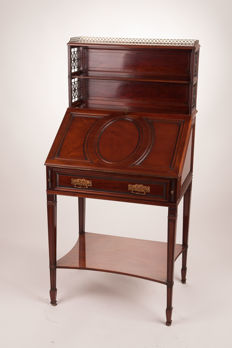 Mahogany writing desk - by Frank G. Collinson and George J. Lock - England, ca. 1870