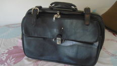 MONTBLANC suitcase-trolley in black calf leather