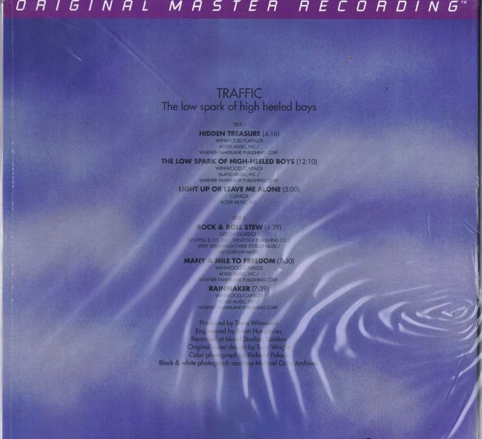 Audiophile LP: TRAFFIC The Low Spark Of High Heeled Boys
