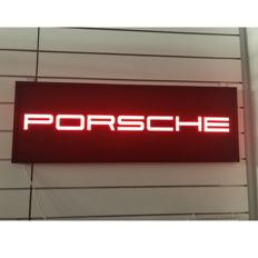 Porsche Big Garage Lighted Sign - 123 x 43 cm