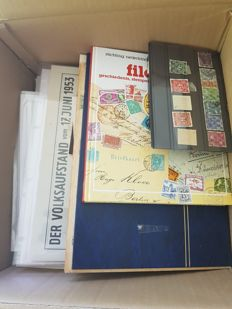 German Reich, Federal Republic of Germany, GDR - Batch on sheets, cards, in bags and in stock book.