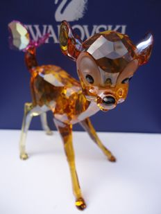 Swarovski - Disney Bambi, coloured - Plaque - Friend Owl, clear.