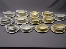 Collection of 13 Gravy /sauce boats.