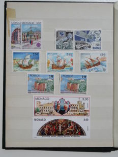 Monaco 1960/2011 - Selection of stamps, booklets and blocks in two stock books
