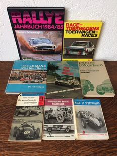 Lot of 8 auto racing books.
