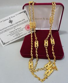 Camrose & Kross – JBK – Jackie Bouvier Kennedy – Paperclip necklace with Box & Certificate of Authenticity