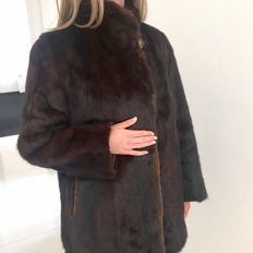 Beautiful mink fur coat with matching mink hat
