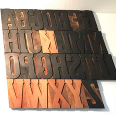 Antique wooden typefaces - Italy - 20th century