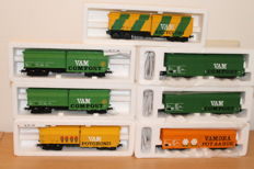 Roco H0 - 66028/46228/66025 - 7 VAM freight wagons of the  NS