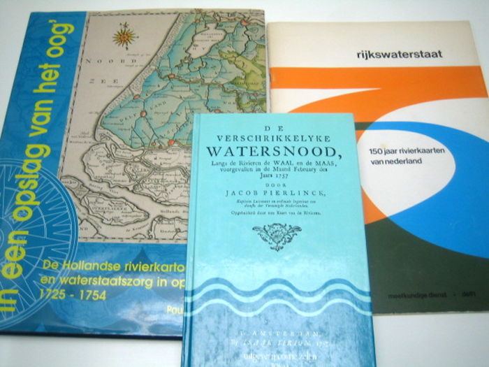 Reference works, river maps; Three editions - 'In een opslag van het oog', 'De Hollandse rivierkartografie en waterstaatzorg in opkomst' 1725-1754 - 1998
