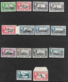 Falkland Islands and Depencies 1938/46 -  A small collection,