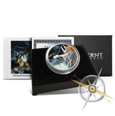 USA - 1 oz Norse Gods Silver Series - Thor - God of Thunder - colour edition - 999 silver - with box and certificate