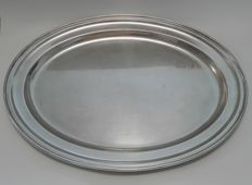 Large silver plated oval dish - GERO 90