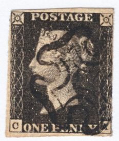 Great Britain 1840 - Penny Black, Stanley Gibbons 1