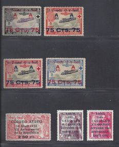 Spain 1927/1951 – Various depictions – Edifil 388/391, 756, 1088/1089