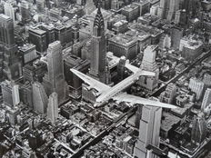 Margaret Bourke White (1904-1971) - 'DC-4 flying over Manhattan', 1939