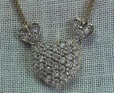 Special pendant with necklace, approx. 0.85 ct Diamond.