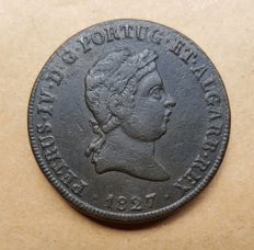 Portugal –  Pataco 40 Réis 1827 – D. Pedro IV – Superior Condition