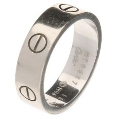 18 kt white gold Cartier Love ring - Ring size 18.5 mm - Width 6.01 mm