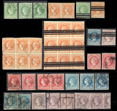 Spain 1860 – Isabel II Studio specialised from this year's issue - Edifil 51, 52, 53, 55, 56.