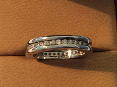 "Bulgari - ""B. Zero1"" 18-kt/750 White-Gold Eternity Ring - Size 54/14"
