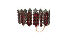 Tombak bracelet with Bohemian garnets, approx. 120 years old