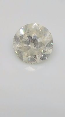 1.02 ct - Round Brilliant - White - F / SI2