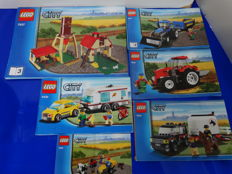 City - 7637 + 7634 + 7635 + 4435 - Farm + Tractor + 4WD with Horse Trailer + Car and Caravan