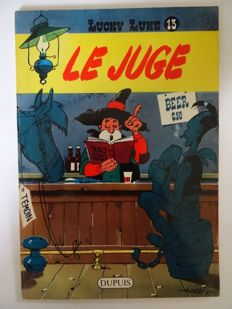 Lucky Luke T13 - Le Juge + Journal Spirou - B - EO (1959)