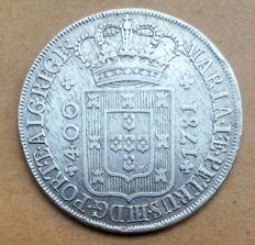 Portugal – Cruzado Novo – 1781 – D. Maria I & D. Pedro III – High Crown – Superior Condition