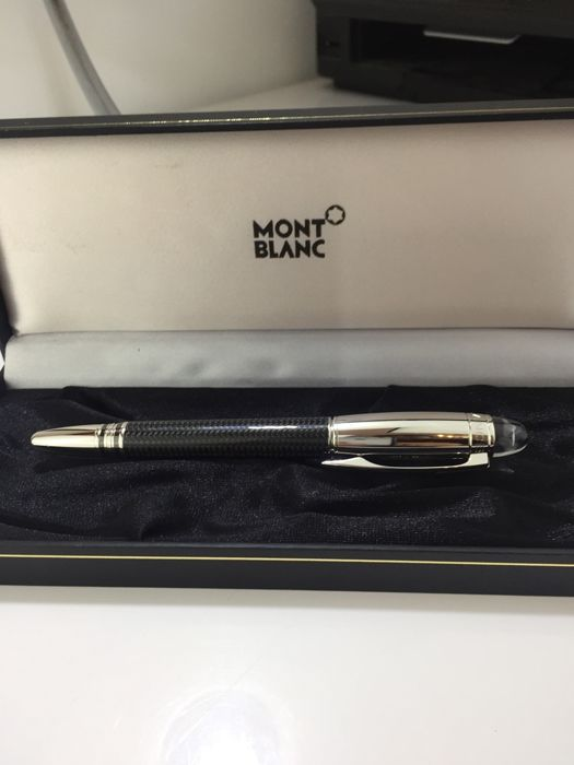 Montblanc StarWalker Carbon Steel filler like new demonstration model 585 14c gold RP: 860€
