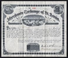 USA (Missouri) - Merchants Exchange of St. Louis - 1882