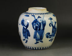 Blue and white porcelain pot - China - 19th century