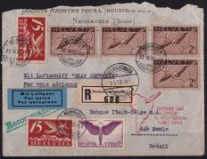 Switzerland 1932 - Graf Zeppelin, 4th cruise to South America